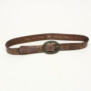 Fossil Brown Leather Design Belt
